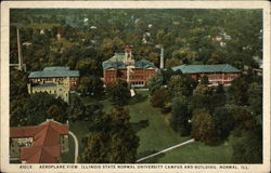 Aeroplane View, Illinois State Normal University Campus and Building