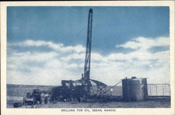 Drilling for Oil Postcard