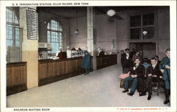 U. S. Immigration Station, Ellis Island, Railroad Waiting Room