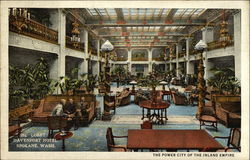 The Power City of the Inland Empire, Lobby, Davenport Hotel