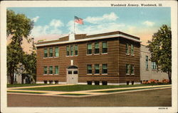 Woodstock Armory Postcard