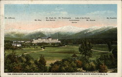 The Presidential Range and the Mount Washington, Bretton Woods
