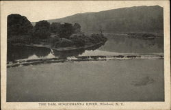 The Dam, Susquehanna River Postcard