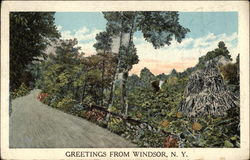 Winding Road & Country Scene Postcard