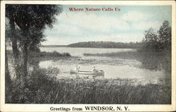 Greetings from Windsor Postcard