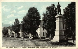 Soldiers' Monument, Corner of Monument and Second Streets
