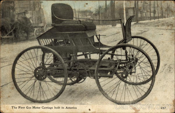 The first gas motor carriage built in America  Cars