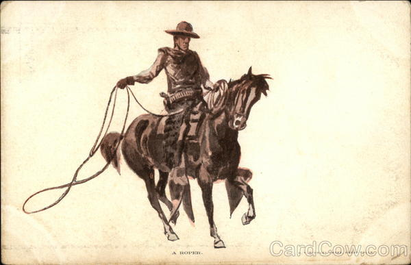 A Roper Charles Marion Russell Cowboy Western