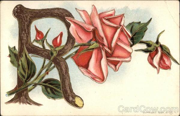 """S Alphabet In Rose Letter """"R&..."""