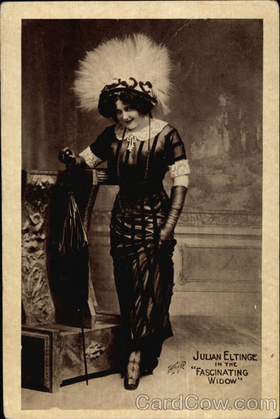 Julian Eltinge in the Fascinating Widow Actresses