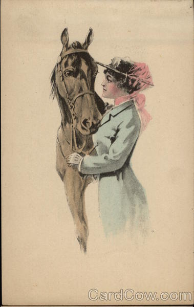 Woman with Horse Horses