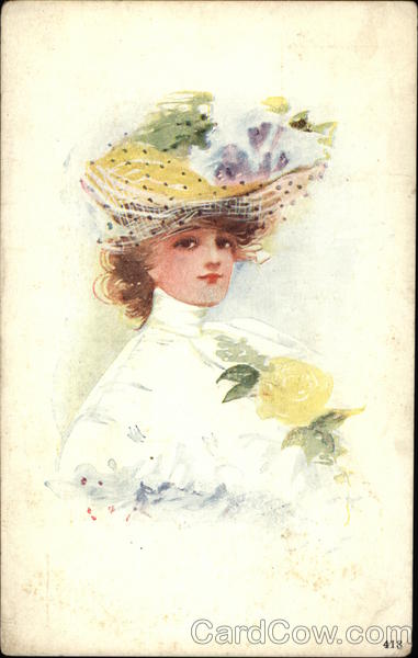 Portrait of Woman in Hat Women