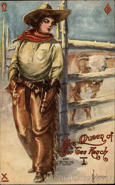 The Queen of Bar Tee Rance L. Peterson Cowboy Western