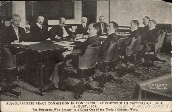 Russo-Japanese Peace Commission in Conference at Portsmouth Navy Yard, U.S.A