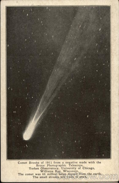 Comet Brooks of 1911 From A Negative Astrology & Zodiac