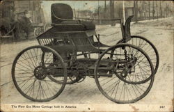 The first gas motor carriage built in America
