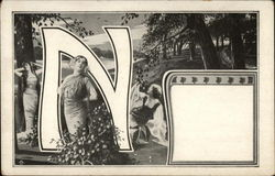 "Letter ""N"" with Grecian Women"