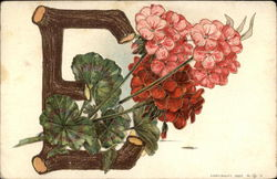 "Letter ""E"" With Flowers"