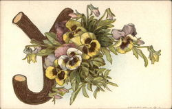 "Letter ""Y"" with Pansies"
