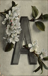 "Letter ""A"" with Apple Blossom"