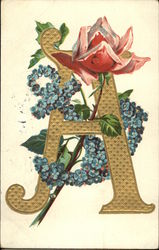"Letter ""A"" with Flowers"