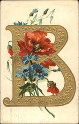 "Letter ""B"" with Flowers"