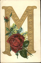 "Letter""M"" with Flowers"