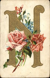 "Letter ""N"" with Flowers"