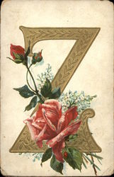 "Letter ""Z"" with Flowers"