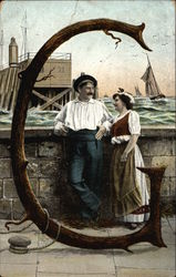 "Letter ""G"" with Woman and Sailor"