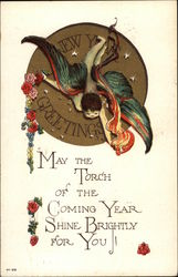 New Years Greeting - May the Torch of the Coming Year Shine Brightly for You!