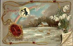 January, the Month for Aquarius, Garnets, and Snowdrops