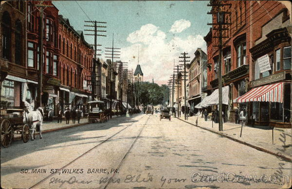 South Main Street View Wilkes-Barre Pennsylvania