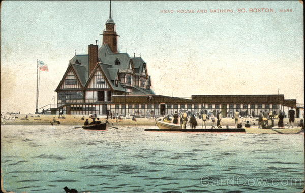 Head House and Bathers South Boston Massachusetts
