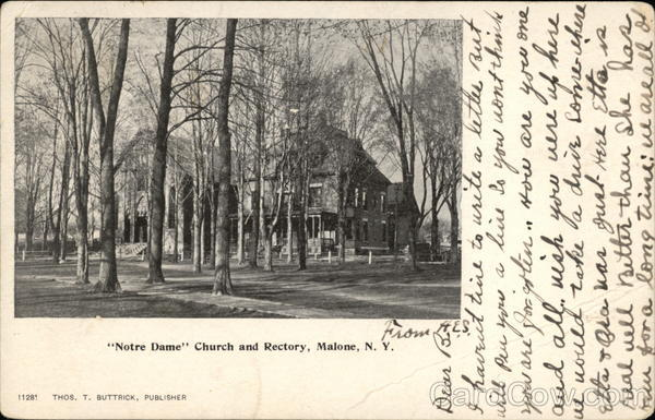 Notre Dame Church and Rectory Malone New York