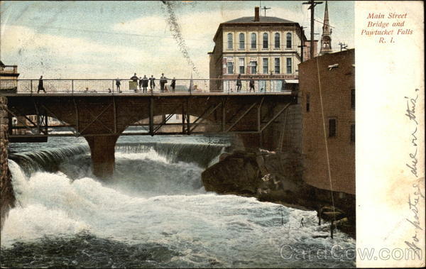 Main Street Bridge and Pawtucket Falls Rhode Island