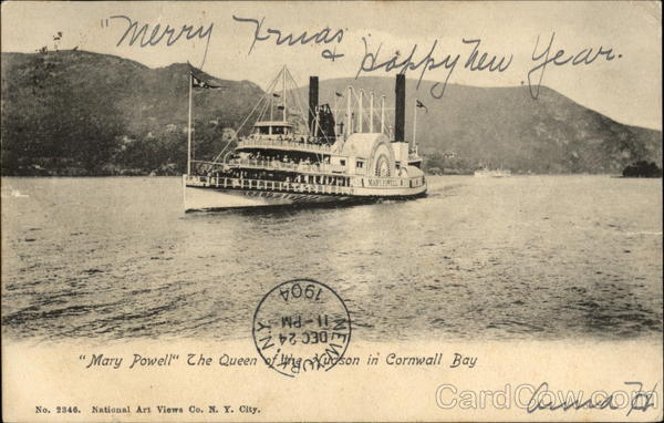 Mary Powell, the Queen of the Hudson in Cornwall Bay