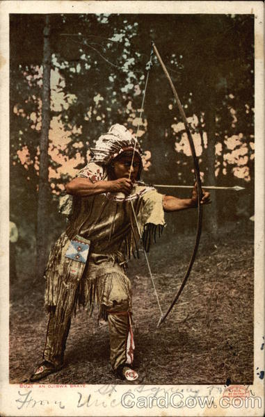 An Ojibwa Brave Native Americana