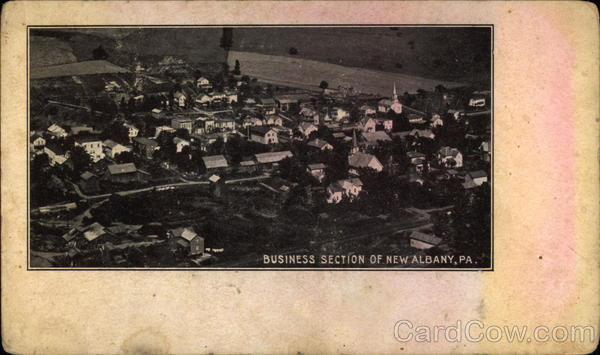 Aerial View of the Business Section New Albany Pennsylvania