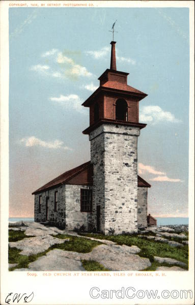 Old Church at Star Island Isles of Shoals New Hampshire