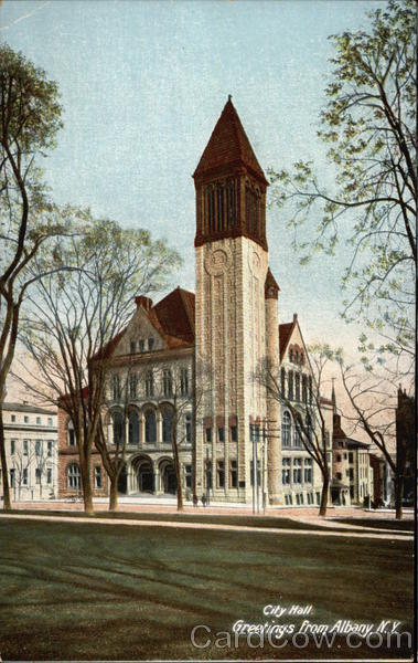 City Hall, Greetings Albany New York