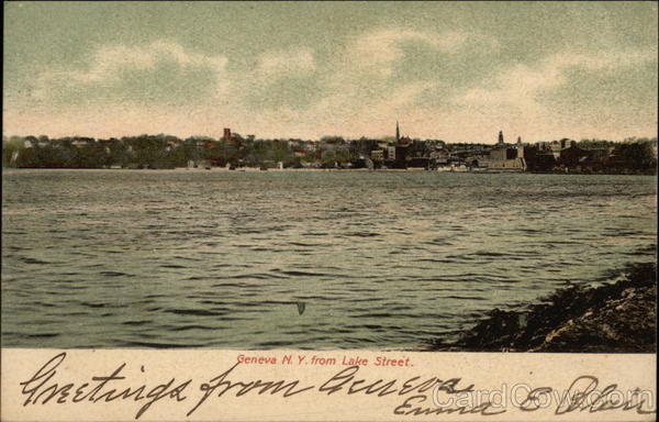 View of Town from Lake Street Geneva New York