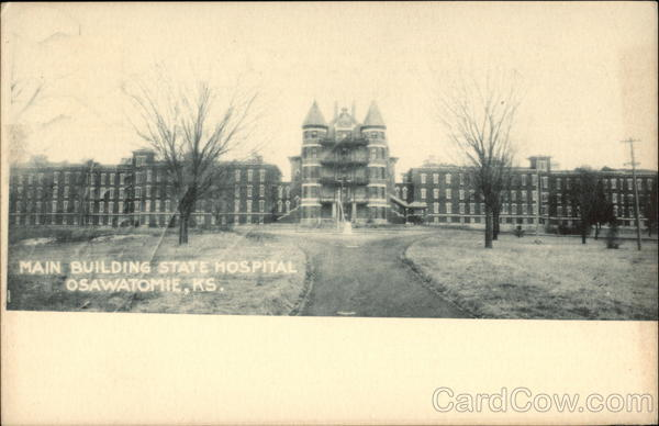 Main Building, State Hospital Osawatomie Kansas
