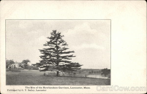 The Site of the Rowlandson Garrison Vintage Postcard