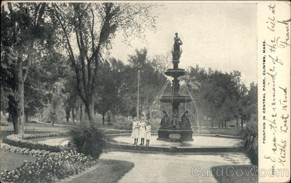 Fountain in Central Park Clinton Massachusetts