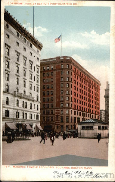 Masonic Temple and Hotel Touraine Boston Massachusetts