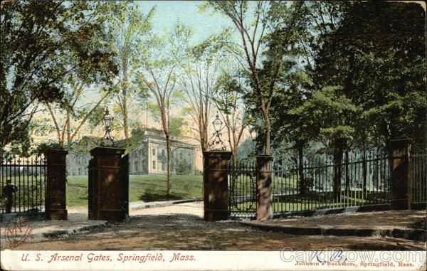 US Arsenal Gates Springfield Massachusetts