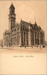 View of Post Office Building Postcard
