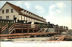 The Summit House and Trains at Mount Washington