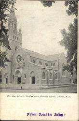 Mrs. Mary Baker G. Eddy's Church, christian Science